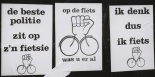 Cycle protest posters Amsterdam 1980
