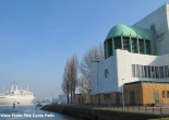 Maastunnel South Ventilation Tower and SS Rotterdam