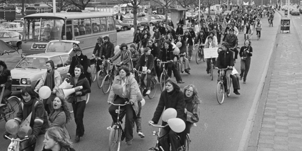 Cycling protest tour 1979, Amsterdam.