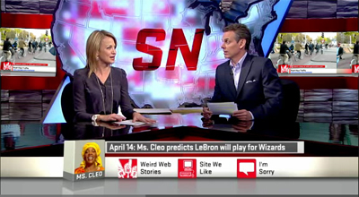 SportsNation on US television showed the video in the segment 'Weird Web Stories'