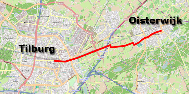 Tilburg - Oisterwijk cycle route