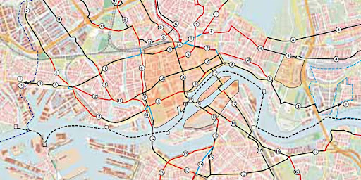 Cycle grid Rotterdam: the routes in red were sub-standard