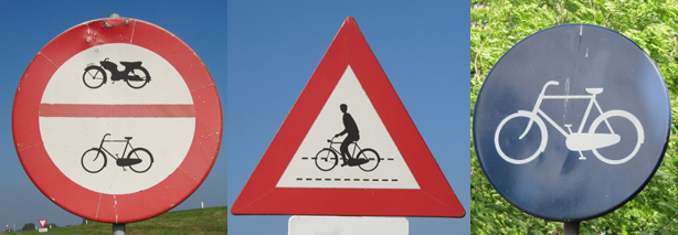 Road Signs For Cycling In The Netherlands Bicycle Dutch