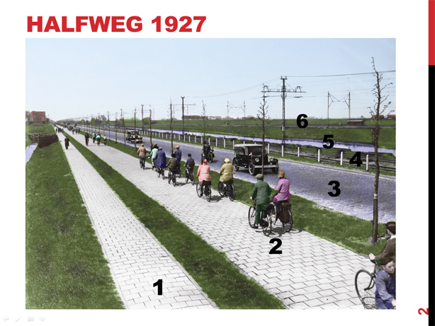 Road Amsterdam - Haarlem 1927