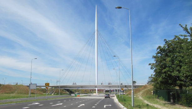 Hovenring Floating Bicycle Roundabout