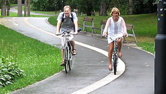 Cycling in the Park in Olomouc