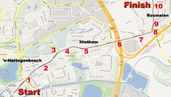 Route 's-Hertogenbosch - Hintham - Rosmalen