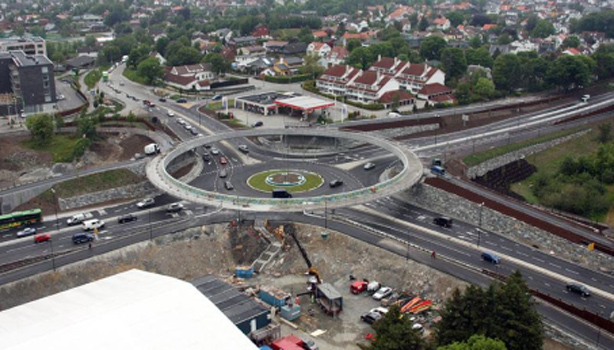 Stavanger cycle roundabout