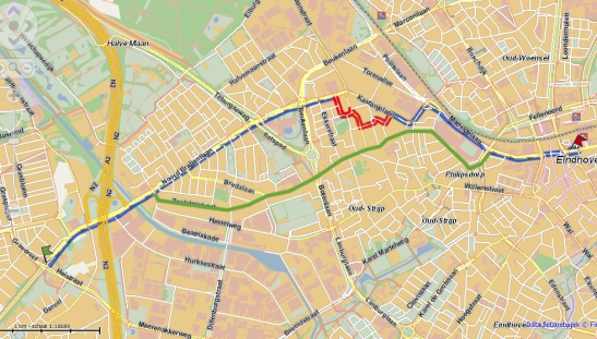 Route Eindhoven