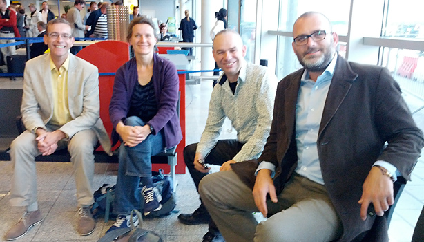 Four Dutch cycle experts on their way to Budapest