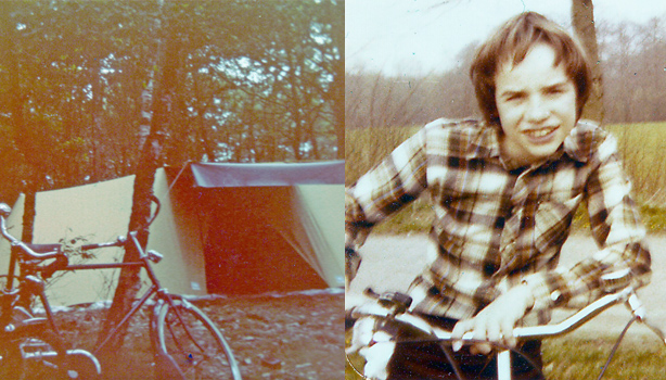 boy scout cycling trip 1978