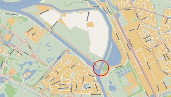 Meerwijksebrug on map