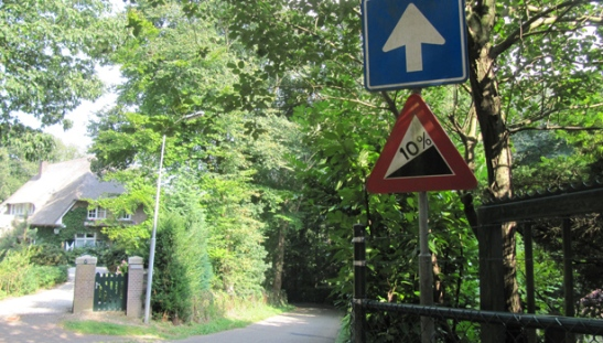 dangerous slope 10 percent
