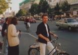 Cycling in Berlin in 1991.
