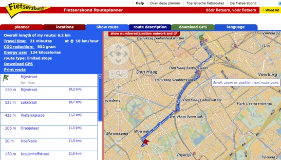 Routeplanner The Hague