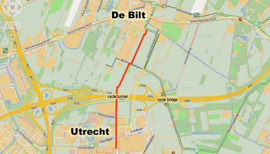 Map Utrecht - De Bilt area