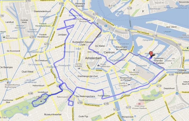 Cycle parade Amsterdam