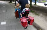 transporting kids on a bike