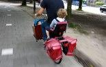 transporting kids on a bike