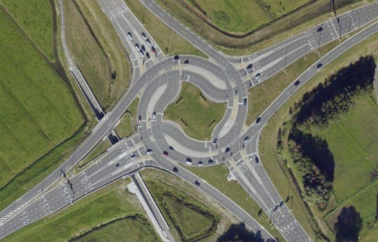 large turbo roundabout