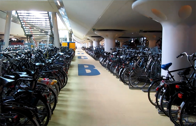 Modern Indoor Bicycle Parking Facilities Bicycle Dutch