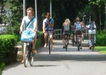 cycling in the park