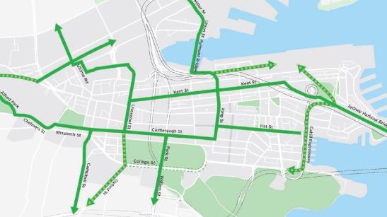 Sydney bike network
