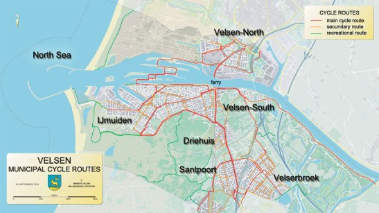velsen-cycle-route-map