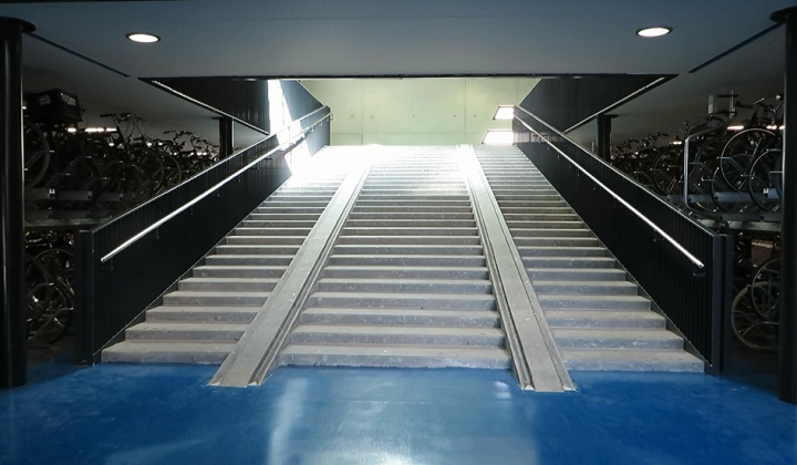 bicycle staircase
