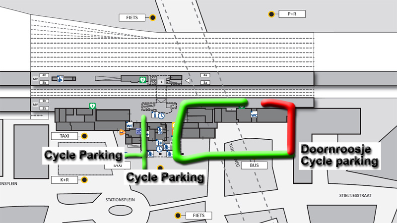 Nijmegen Bicycle Parking Facility Underused Bicycle Dutch