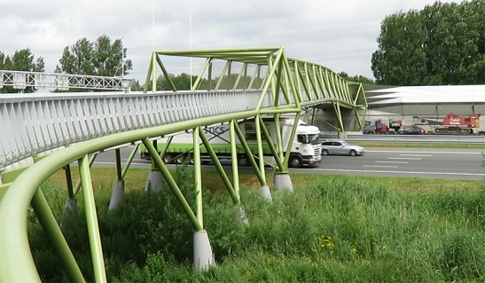 The cycle bridge in the Rijnveldsche Pad at Maarssen.
