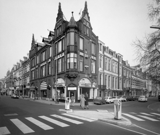 The same corner in 1974. It is simply a busy junction in the city centre.