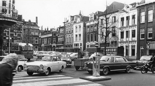 In the mid 1960s the whole area was swamped with cars.