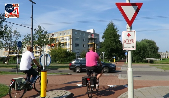 Arnhem already placed legal signs with red letters and the number F325.