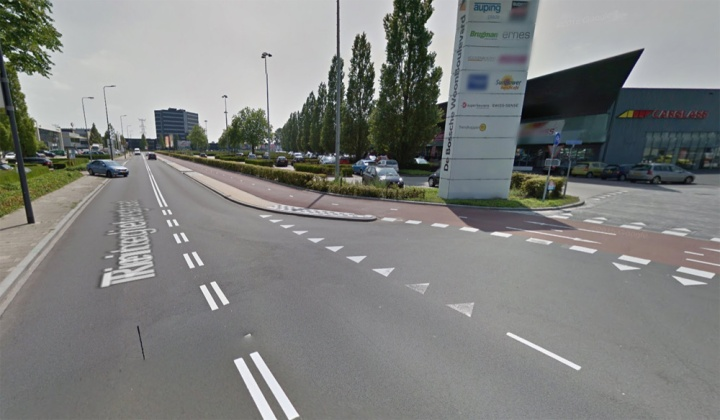 Reitscheweg after - a bi-directional cycleway on one side of the street.
