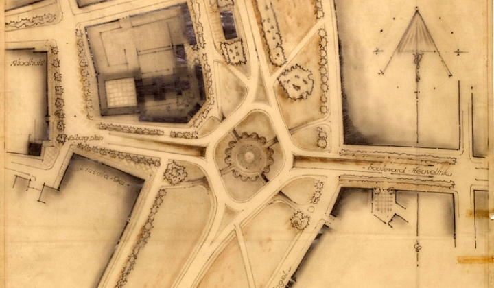 The 1947 plans for the roundabout. (picture Gelders Archief)