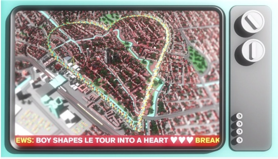 "So why did this tour get the name ""Coeur Bike Utrecht"" (Heart Bike Utrecht). That has to do with the Utrecht anthem of the start of the Tour de France. In which the Tour route is shaped in a heart. This tour followed a great deal of that heart on the map of Utrecht."