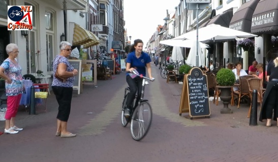 Designing city space for the main vehicle user group already exists in some form in the Netherlands. Such as this pedestrian zone where cycling is allowed.
