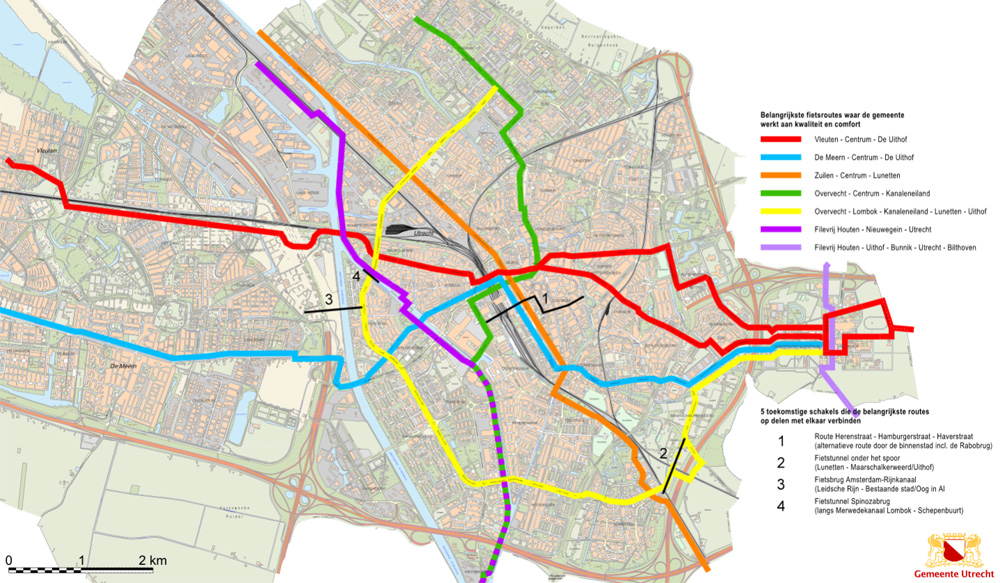 Main cycle routes updated in Utrecht | BICYCLE DUTCH