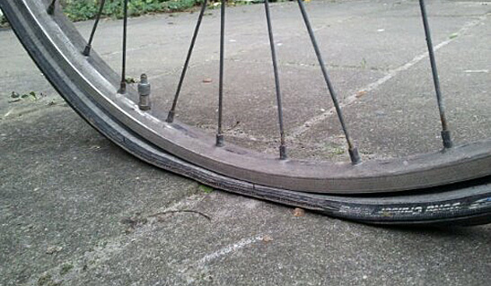 A flat tire. Luckily they're easy to repair.