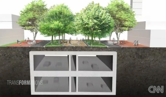 Cross section of the double decker tunnel for the A2 motorway through Maastricht. Still from the report by CNN.