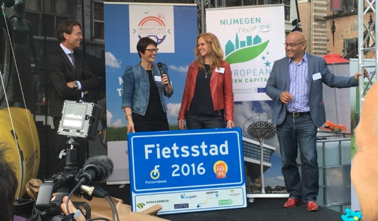 Nijmegen was elected Cycling City of 2016.