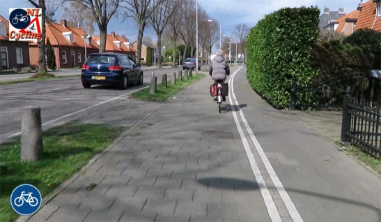 Many surfaces of the cycleways in Zaltbommel still consist of concrete tiles, which is considered a bit old-fashioned nowadays.