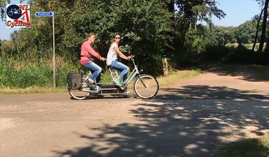 I met these two women again later. It was clear the one on the back of the tandem was visually impaired.