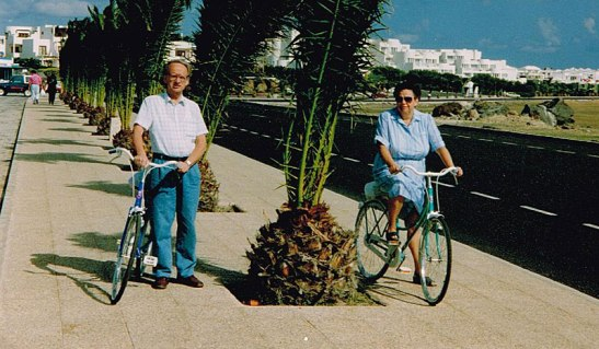 My parents on a cycle tour on the Canary Islands in the 1990s.