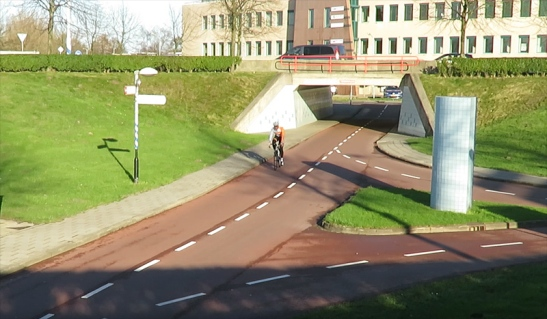 The cycle underpass is used by all types of cyclists.
