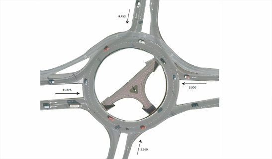 Number of motor vehicles per day in 2011 at the Tiendenplein roundabout in Goes.