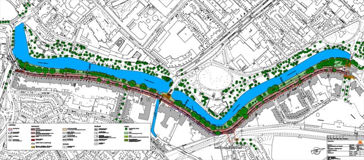 The plan to redesign a former main road around the city centre to become a main cycle route and only a local access street for motor traffic.
