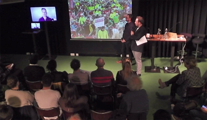 Mark Ames directly from Sydney on an event in Amsterdam talking about London cycling.