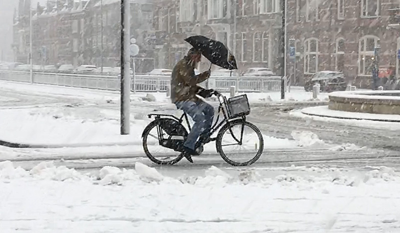 Cycling in a winter wonderland